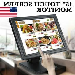 """POS 15"""" Touch Screen Monitor LCD TouchScreen Monitor Retail"""