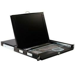 """StarTech 1U 17"""" Rackmount LCD Console with Integrated 16 Por"""