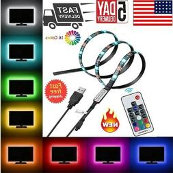 5V USB Powered RGB LED Strip Light Backlight for LCD,TV,PC,C