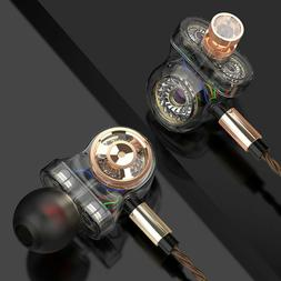 6 Driver Earphone Wired Surround Sound Headphone Monitor Bas