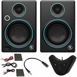 """Mackie CR3 3"""" Creative Reference Monitors  Blue + Bluetooth"""