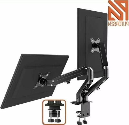dual monitor desk mount stand with c