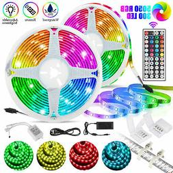 32.8ft 10M 300 LED RGB 5050 SMD Waterproof Strip Light Flexi