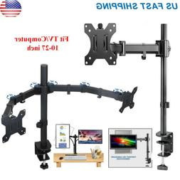 Single /Dual Arm Monitor Desk Mount Computer TV Screen Brack