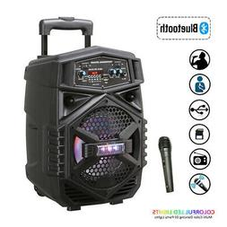 Trolley Speaker Bluetooth Audio USB TF Karaoke USB/TF/AUX/FM