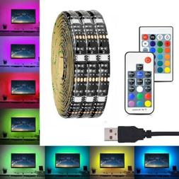 USB LED RGB Color Changing Strip Light For TV LCD Monitors B